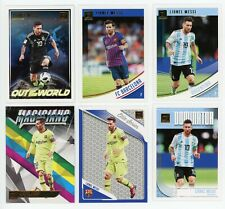 2018-19 Donruss BASE & Insert Complete Lionel Messi 6 Card Set