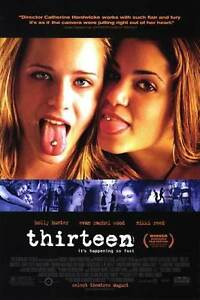 Thirteen Movie Poster 27x40 S/S  Holly Hunter   Jeremy Sisto   Evan Rachel Wood