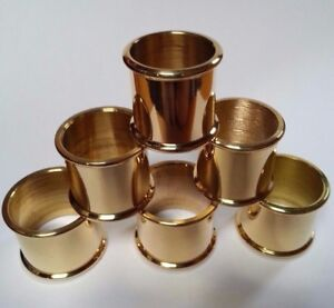 BEADED BRASS COLLARS Choice of 9 SIZES 20mm-30mm i/d. for Walking Stick Making