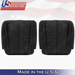 Fits 2009 to 2013 INFINITI FX35 FX37 QX70 Front Row Bottoms Leather Covers Black