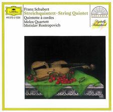 SCHUBERT - String Quintet - Melos Quartett - Mstislav Rostropovich - DG CD