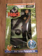 Vintage Super Special Force Action Figure Set - Action Man Scale - Black Outfit