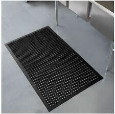 3 ft x 5 ft Black Heavy-Duty Commercial Industrial Indoor Anti-Fatigue Floor Mat