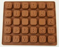 ALPHABET BLOCKS Letters Chocolate Candy Mold Cupcake Silicone Mould Sugarpaste