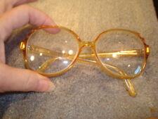 Vtg 80s Saphira Oversize Frame Glasses Bifocal 4104 Optyl Austria Honey Red Trim