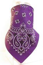 Purple Prospector Style Recreational Fleece Lined Bandana Motorcycle Face Mask
