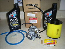 GENUINE HONDA OEM 250 RECON CARBURETOR-AIR-​FUEL FILTER 2QT OIL-PLUG-L​INE 99-01