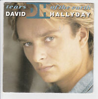 "HALLYDAY David Vinyle 45 tours SP 7"" TEARS OF THE EARTH - SCOTTI BROS 878 188"