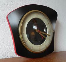 Belle Horloge  Forme Libre  noire  Vintage   Des Années 50's  Mar24