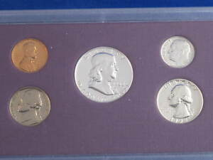 1958 U.S. Silver Proof Set In Plastic Holder