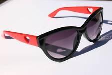New Womens fashion sunglasses Heart Cats Eye Black Red