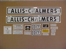 Decal set for Allis Chalmers D17 decal set, TRACTOR