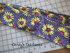 Handmade; Sash; Regency Era; Civil War; New; Purple Daisy