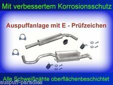 Abgasanlage Auspuff VW Polo III 1.9 TDi (6KV2 & 6KV5) 66KW / 90PS  + Anbaukit