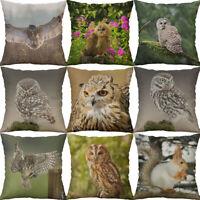 Cotton Linen printing Squirrel owl Animal Pillows case Home Decor Cushion Cover