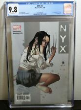 NYX (2003) #4 CGC Graded 9.8 NM/MT White Pages 1st Tatiana Appearance