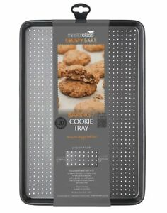 MasterClass Perforated BAKING Cookie TRAY CRUSTY BAKE 39x27cm Non Stick LARGE