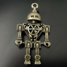 6pcs Vintage Bronze Alloy Robot Pendant Charms Jewelry Finding 46*25*8mm 07010