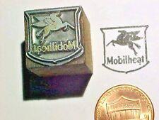 Mobilheat PEGASUS Home Heating Oil Products Logo Emblem Letterpress Printers Cut