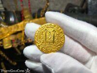 PERU LIMA 8 ESCUDOS PURE GOLD DOUBLOON 1715 FLEET PIRATE TREASURE COIN SHIPWRECK