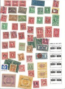 U.S. B.O.B.  50 Assorted Canceled  Stamps.