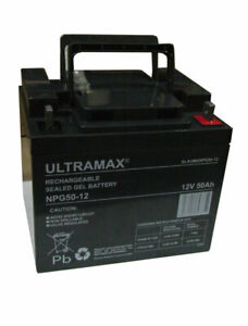 ULTRAMAX NPG50-12 - 12V 50Ah 'AGM' DEEP CYCLE GEL BATTERY - SOLAR POWER STORAGE