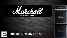 Marshall Amplifier Banner, for Rehearsal Room, Studio, Garage, Shop, JCM800 etc