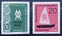 DDR 1956. 2 Marken Leipziger Herbstmesse, postfrisch komplett, Mi 536-537