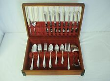 58p International Rogers Exquisite Silverplate Flatware Set 8 Place Settings