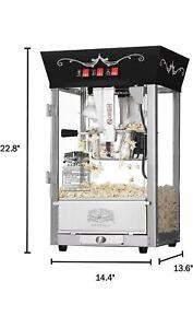 Great Northern Popcorn Company Foundation 8oz Popcorn Popper Machine - Black