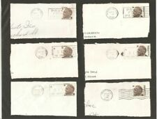 Set of Six Franklin D. Roosevelt 6 Cent Postage Stamps Post Marks - 1968 S571