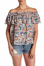 NWT- Current/Elliott 'The Ruffle Top', Dusty Bowl Floral Off-Shoulder - 3 Large