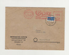 Freistempel (21a) HERFORD 18 8 49 und Poststempel 19.8.49f auf Notopfer 2 Berlin