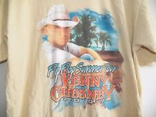 KENNY CHESNEY 2007 Flip Flop Summer Concert Tour Country Music Band T-Shirt L