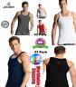 Men's Square Neck Vest, Jockey Cotton Tank Top -Style-US 26 Multi Pack Free Ship
