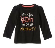 Gymboree RIGHT MEOW Black Are You Kitten Me Shirt Top Nwt 3t new Girls