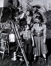 RARE STILL ROY ROGERS WITH DALE AND KIDS OFF CAMER ON SET