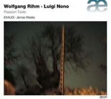 Wolfgang Rihm, Luigi Nono: Passion Texts (CD, Oct-2014, 'on)