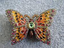 Butterfly Trinket Box, Swarovski Crystals & Colorful Enamel FITZ AND FLOYD
