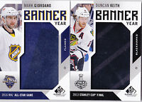 16-17 SP Game Used Duncan Keith Banner Year Blackhawks 2013 Stanley Cup 2016