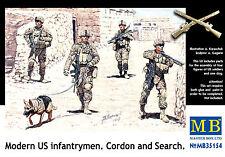MASTER BOX™ 35154 Modern US Infantry Cordon & Search Figuren in 1:35