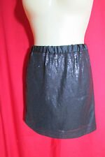 Portmans Design Dark Grey Sequined Mini Skirt Size 16 NWOT Party/Club/Dinner