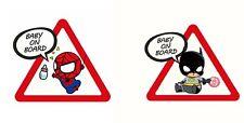 Autocollant Voiture Bébé à bord Spiderman & Batman Baby on Board Sticker Aufkleb