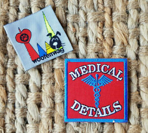 Embroidered Patch  MEDICAL DETAILS alert patch iron on 5x5cm
