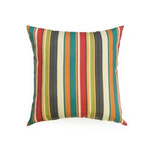 Sunset Stripe Square Outdoor Throw Pillow (2-Pack)