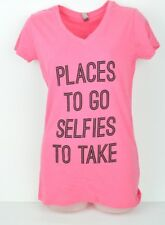 Next Apparel Places To Go Selfies To Take Hot Pink V Neck Large Tshirt Ladies