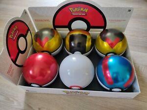 6 LEERE Pokeball Tins inkl. dem Aufsteller