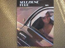 FORD PRODUZIONE 1971 MUSTANG CAPRI TAUNUS 17 20 26 M BROCHURE ORIGINALE ITALIA