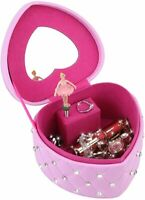 Musical Jewelry Box, Child's Jewelry Box with Ballerina Jewelry Storage Case PU