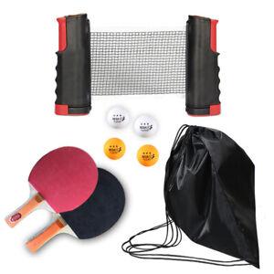 Table Tennis Kit Indoor Games Portable Retractable Net Paddles Ball PingPong Set